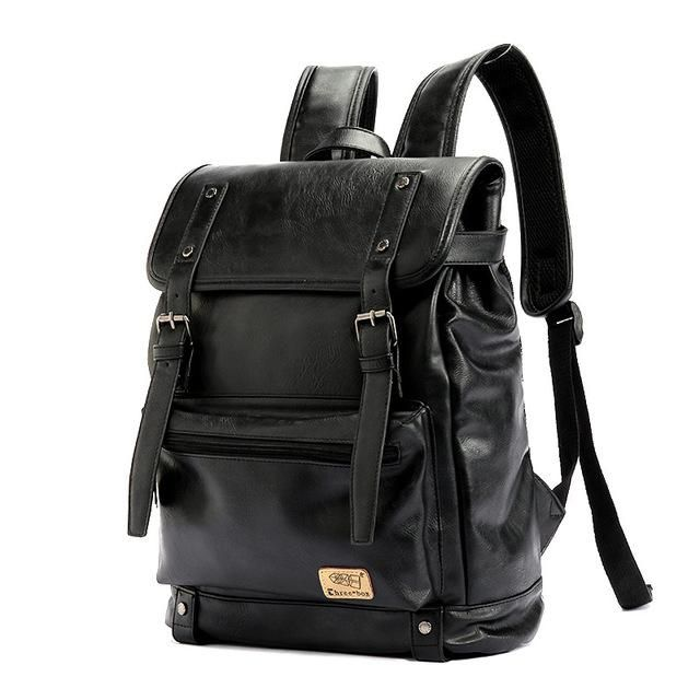 Three-box Brand Leather High Quality Business Backpack Youth Travel Rucksack School Laptop Book Bags Male Shoulder Bag Mochila