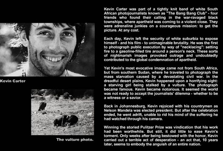 Kevin Carter Photo Gallery | Learning from history is not part of human condition: Biafra - Sudan ...