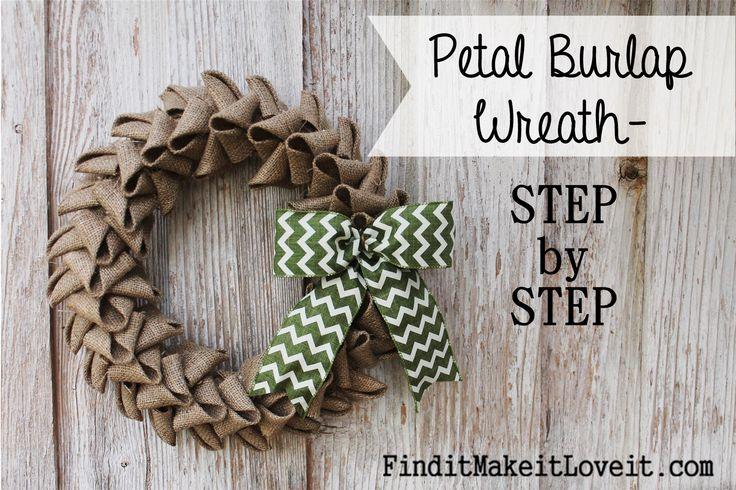 Petal Burlap Wreath DIY
