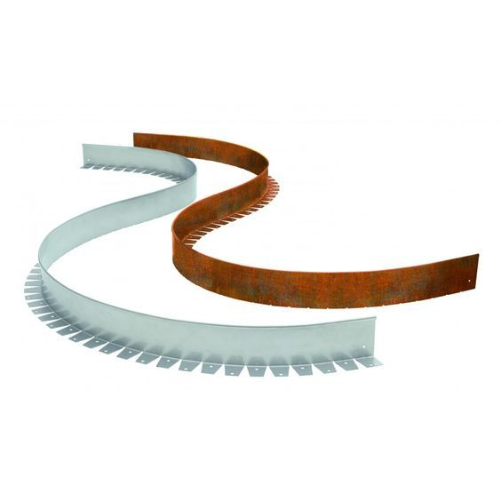 Rasenkante/Beeteinfassung flexibel aus Cortenstahl einzeln