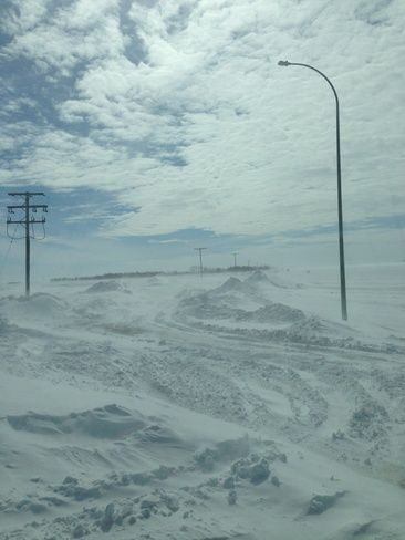 Road Just Outside Regina | One of the main roads just off Highway 1 east of Regina on March 21, 2013 | Posted by Leslie Moldenhauer