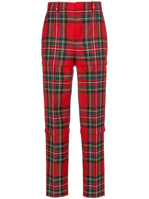 c861117a726f Balenciaga Red wool tartan trousers
