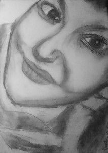 Trudy few years later... #charcoal #portrait #girl #face #lips #eyes #mypainting #paintingtonight #bertry