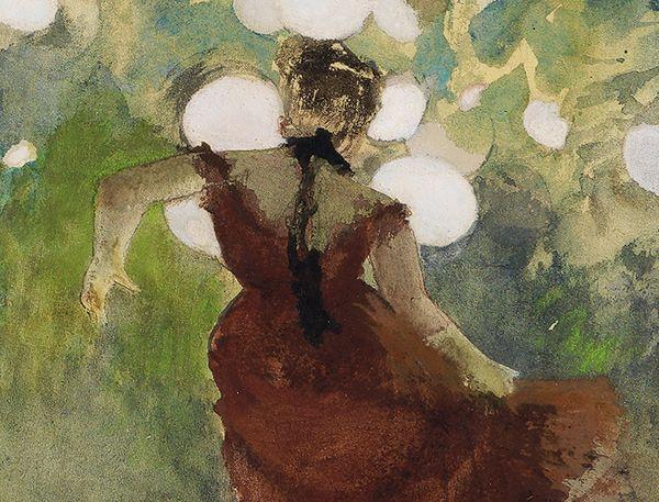 Edgar Degas, Sängerin in einem Pariser Gartencafé, 1880 (Detail), Staatliche Kunsthalle Karlsruhe