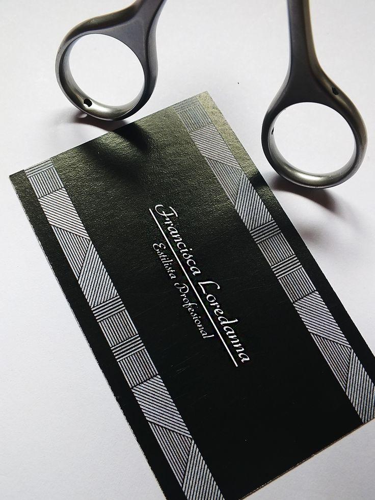 Tarjeta de presentación para Francisca Loredanna - Estilista Profesional // Minimalismo //