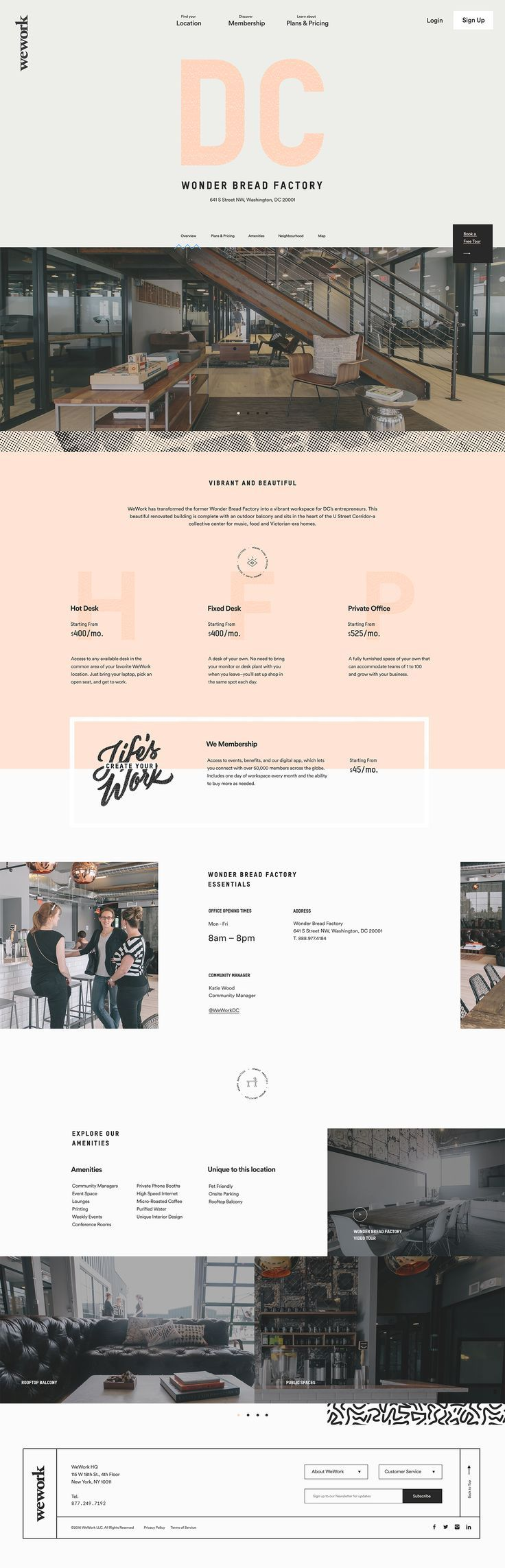 We work. nice simple page with alternating colors