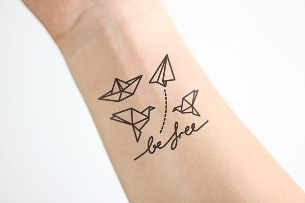 Weiteres - FÄJKS - Temporäre Tattoos - Fake Tattoo »Origami« - ein Designerstück von navucko bei DaWanda