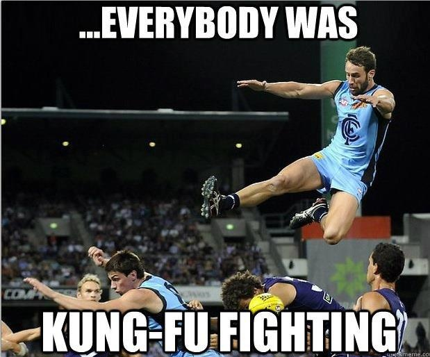 i love kung-fu fighting when it comes to afl