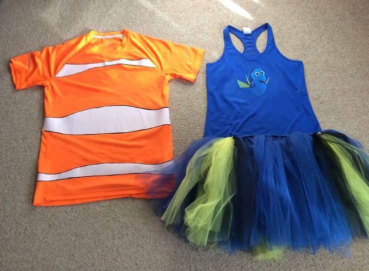 Rundisney Nemo Dory. Couples running costume tutu