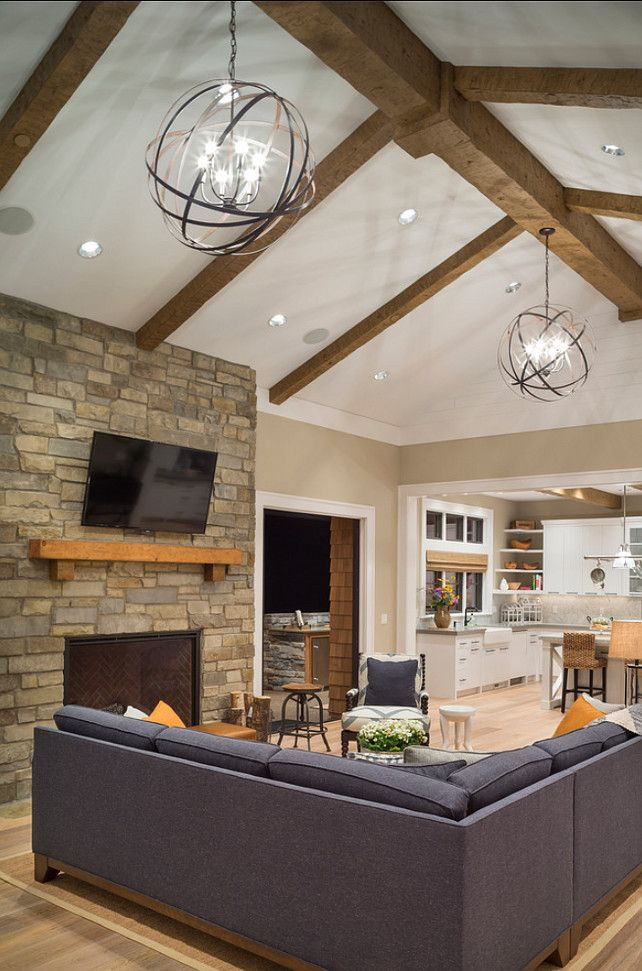 25 best ideas about vaulted ceiling lighting on pinterest for Ceiling lighting ideas for living room