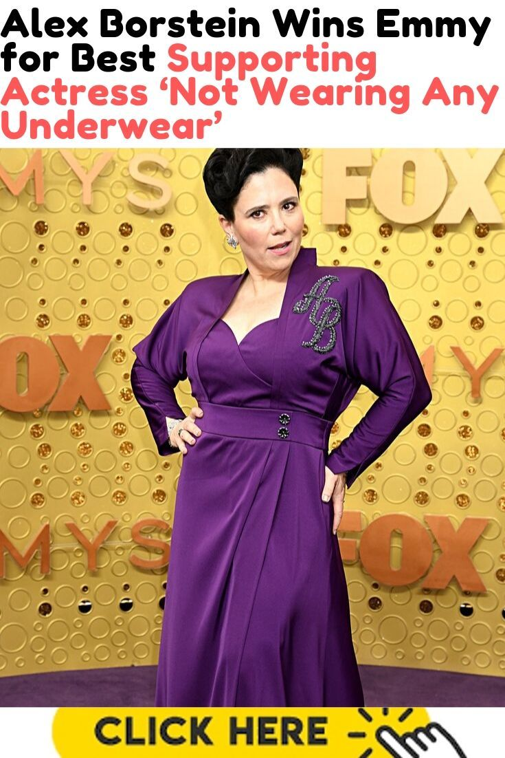 Alex Borstein Wins Emmy for Best Supporting Actress 'Not Wearing Any Underwear'