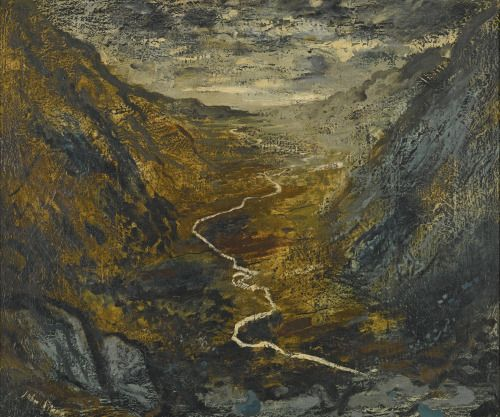John Piper (British, 1903-1992), The River Ogwen, 1948. Oil on canvas, 25 x 30 in.