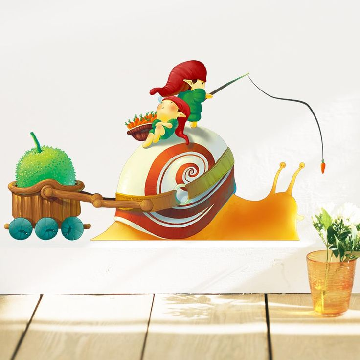 Nome Little Elf and Snail Wall Sticker //Price: $7.40 & FREE Shipping //     #stickers