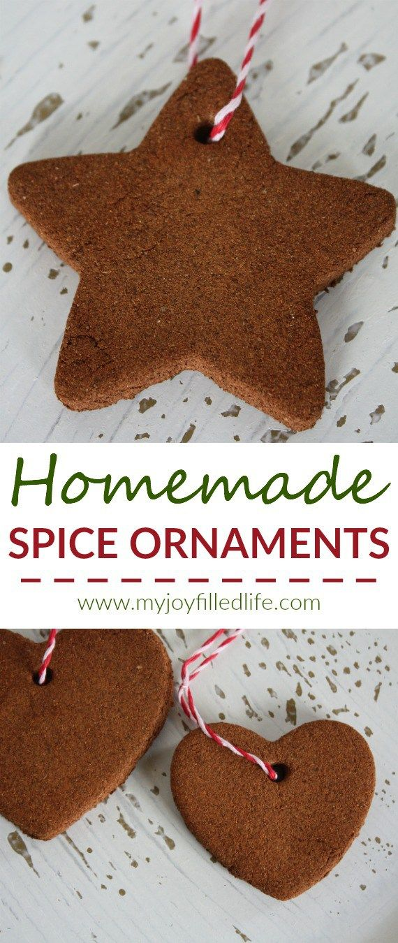 This homemade spice ornaments are fun and easy to make, not to mention they smell great - perfect for hanging on the tree or giving as a gift.
