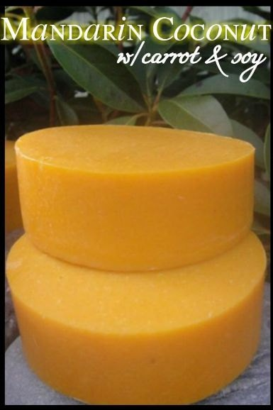 Soap with Carrots! Good for the skin!