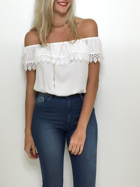 Blusa ciganinha off white
