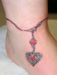 Image result for pictures of ankle bracelet tattoos