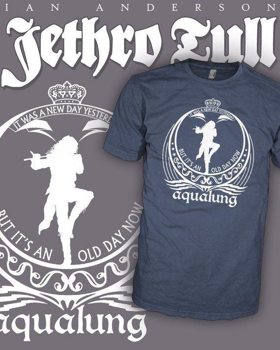 b14ece4e4d1 Jethro Tull Shirt - Aqualung Shirt - Ian Anderson Tee - Flute Prog Rock T- Shirt