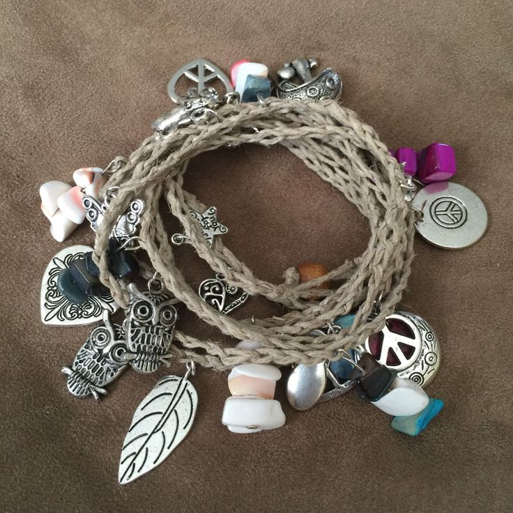 Boho wrap charm and bead necklace or wrap bracelet   by wanderlyly on Etsy https://www.etsy.com/listing/218510694/boho-wrap-charm-and-bead-necklace-or