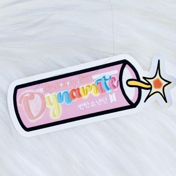 Bts Dynamite Light It Up Like Dynamite Sticker Decal Planner Decoration Laptop Tumbler Vinyl Decal Kpop Sticker Doodle In 2020 Clear Plastic Sheets Matte Sticker Sticker Sheets