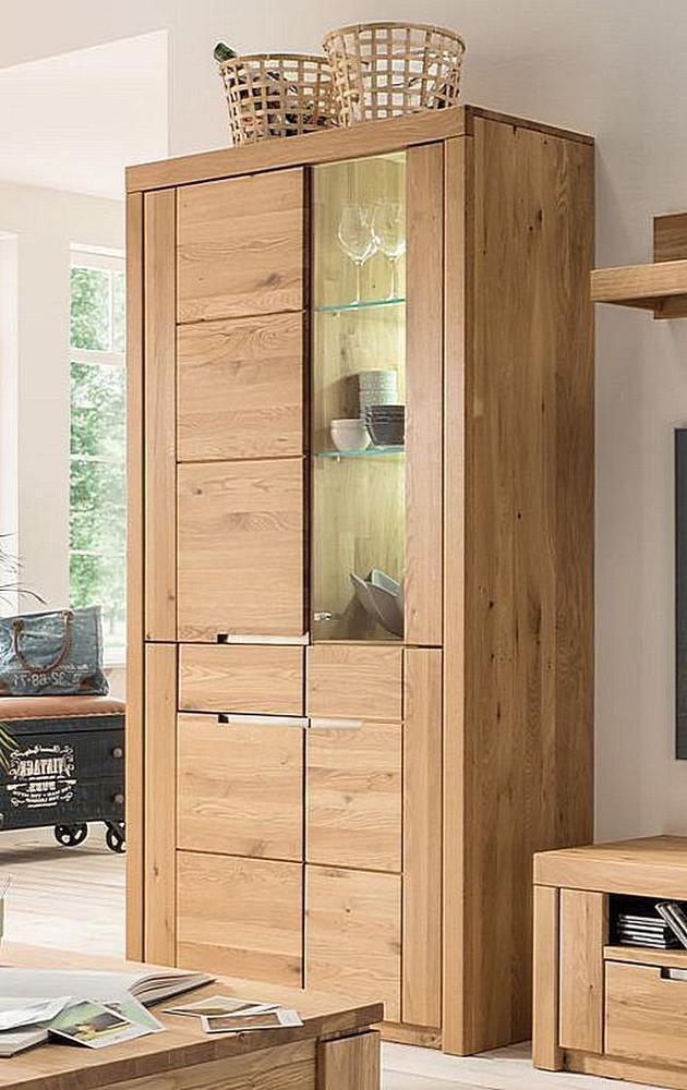 Massivholz Vitrinen Schrank 4turig Wildeiche Geolt Massiv Glas Rechts Vitrine In 2020 Tall Cabinet Storage Storage Cabinet Storage