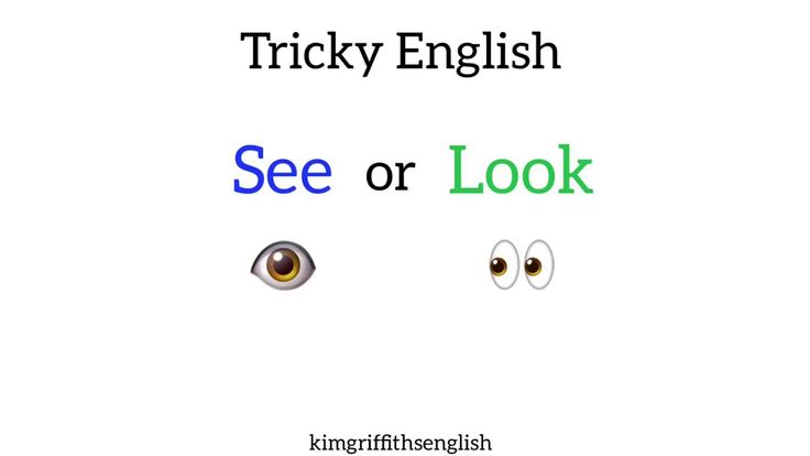 See or Look? English vocabulary - YouTube