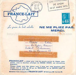 45 RPM Hors Commerce - 1972 - Succès France Lait n°29 - Les Champs-Élysées