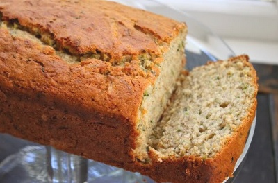 Zuccini bread. Contrary to what you think, it isn't really all that healthy, but super good!