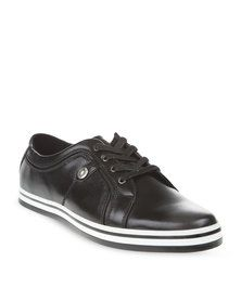 Paul of London Burnish Lace-Up Shoes Black