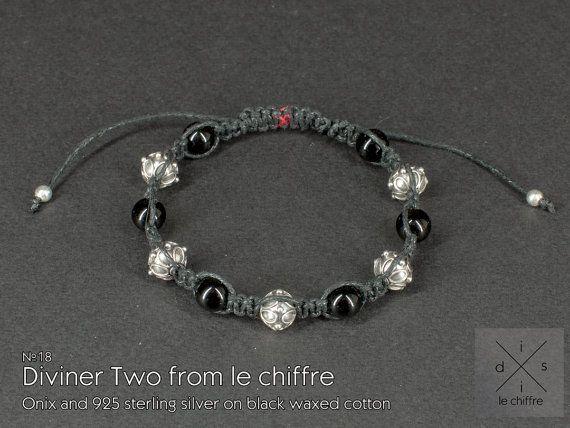 Diviner II agate silver shamballa bracelet by lechiffrejewels