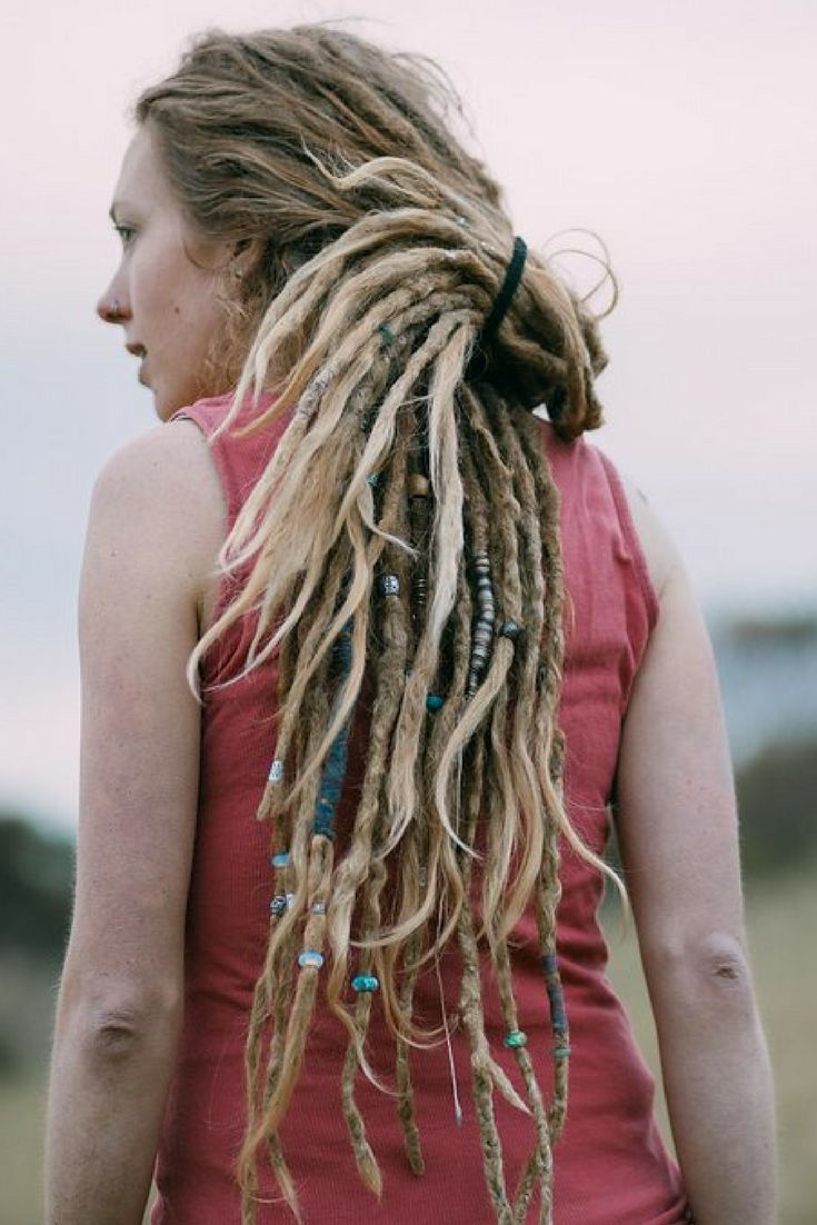Long Dreadlocks - Girl with Dreads - Dreadlock Beads | Natural Dread Care | Dreadlock Accessories at mountaindreads.com