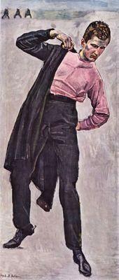 Young freedom fighter by Ferdinand Hodler. Order from DEKORAMI as a poster, canvas print, mural. Zamów jako obraz na płótnie, plakat lub fototapetę na DEKORAMI.pl