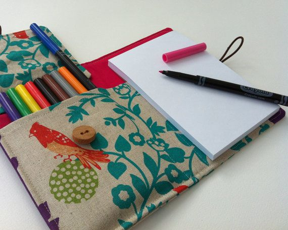 "children's ""art wallet"": holds art supplies and travels anywhere!"