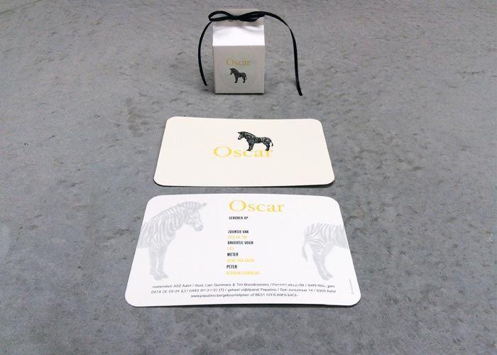 BIRTH CARD 'Oscar': offset print card / by www.missmoss.be