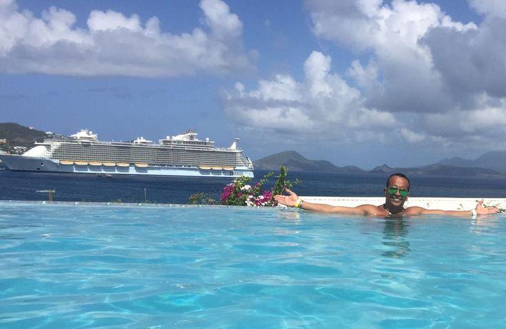 A bordo: atleta de high diving se torna oficial em cruzeiro e mantém vida de luxo no Caribe
