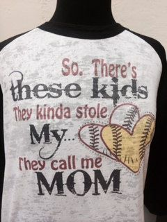 I NEED THIS SHIRT!!!!!!!!!! Burnout Raglan baseball softball mom so there's by JustPiddilin, $32.95
