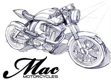 Mac motorcycle concept sketch
