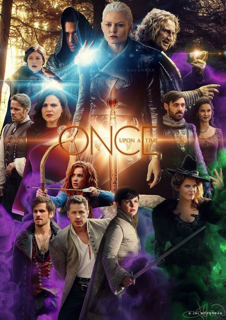 The awesome cast of Once on an awesome poster for awesome Once S5