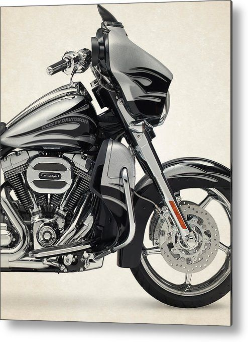 Harley Motorcycles Metal Print featuring the photograph Harley Davidson Cvo Street Glide 2015 by Stephanie Hamilton