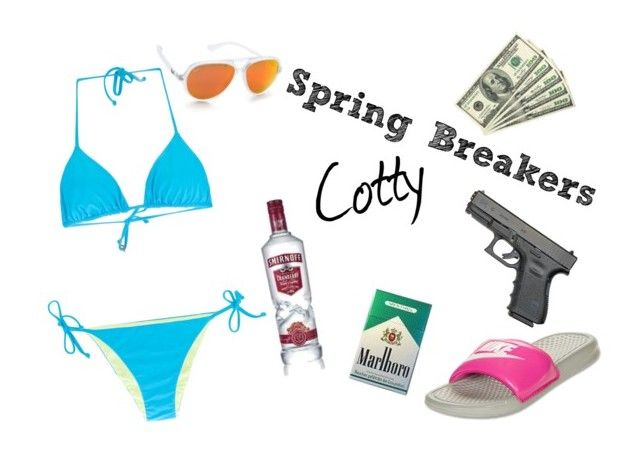 """""""Spring Breakers-Cotty"""" by kerithmartin ❤ liked on Polyvore featuring Fisico, NIKE and Ray-Ban"""