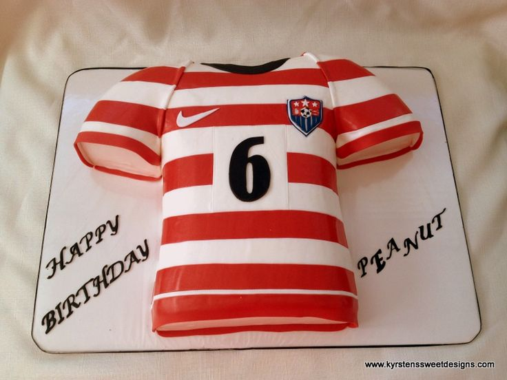 Cake Designs Usa : USA Women s Soccer Jersey Cake - Kyrsten s Sweet Designs ...