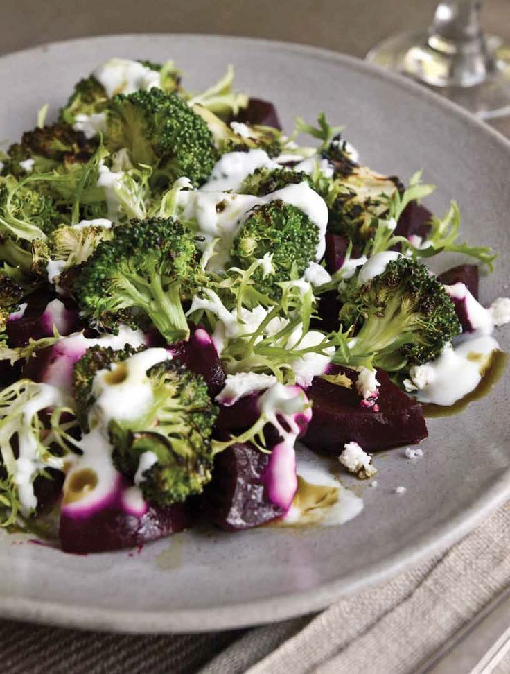 Pickled Beet and Charred Broccoli Salad