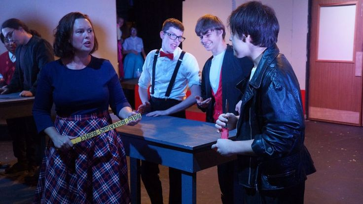 """Matt Robinson, co-director of LaPorte Little Theatre Club's production of """"Zombie Prom,"""" admitted to receiving a little pressure from his cast to bring the musical to the stage."""