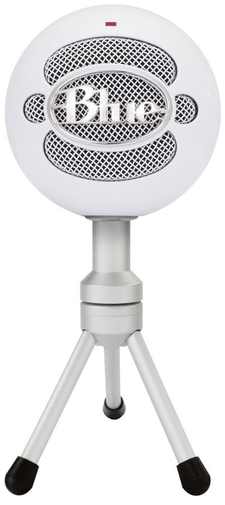 USB Snowball Microphones Blue ICE Condenser Wired Home Studio Audio Device White #BlueMicrophones