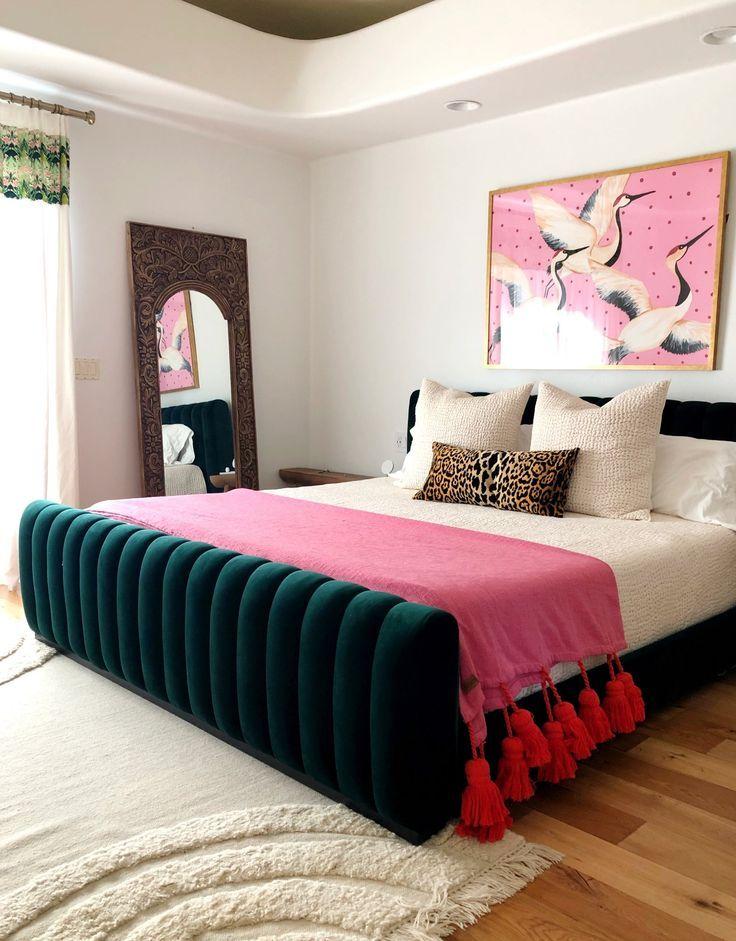 One Room Challenge Week Three Modern Maximalist Master Bedroom In 2020 Bedroom Night Stands In 2020 Bedroom Night Stands Home Decor Bedroom Anthropologie Bedroom
