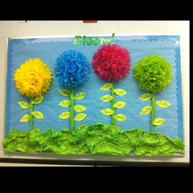 Bulletin board for spring! | Calendar and Bulletin Board ...