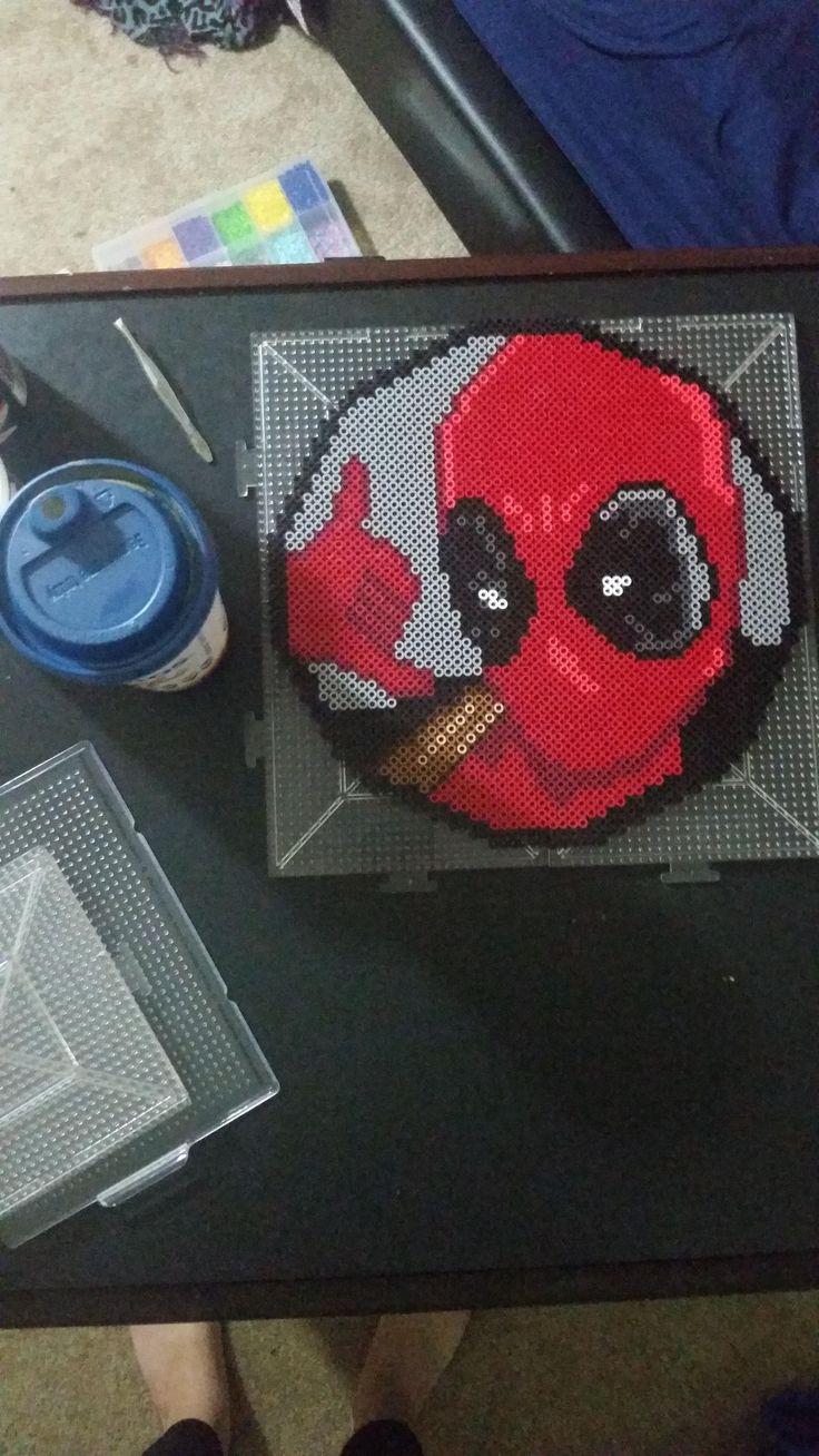 Deadpool perler beads by etcheesketch
