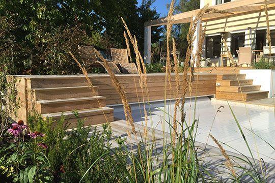 Smart poolbrygga FOTO: Stinas Trädgård