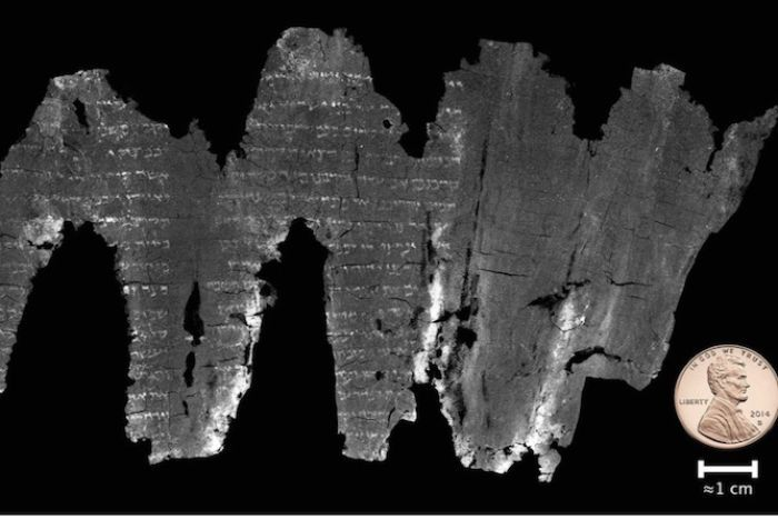 En-Gedi Leviticus scrolls: Ancient scrolls 'virtually' deciphered to reveal earliest Old Testament scripture identical in all of its details both regarding its letter and section division to the Masoretic text, the authoritative Jewish text until today.