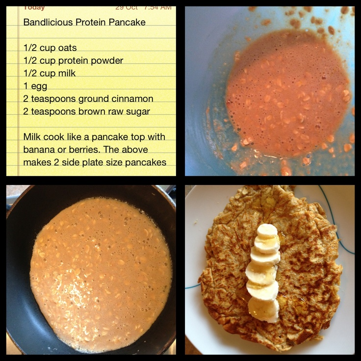 My own recipe ) Recipes, Food, Protein pancakes